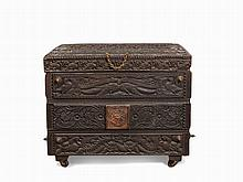 Temple Chest with Depictions of Deities, South India, 19th C.