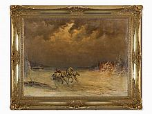 Alexandroff, Painting, Winterscape with Russian Troika, c. 1900