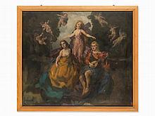 Ernst Hodel II (1881-1955), Three Graces with Putti, c. 1920