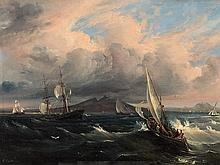 Consalvo Carelli (1818-1900), View of the Vesuvius, Oil,19th C.