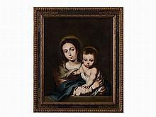 Bernardo Germán y Llorente (1680-1759), Madonna with Child,1742