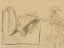 Eugène Delacroix, Etude de Chevaux, India Ink, 1st H. 19th C.