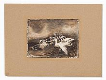 Alexander Koester (1864-1932), Ducks on a Brook, Mixed Media