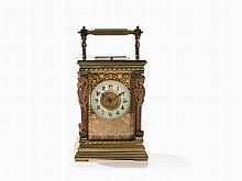 A Large Carriage Clock with 4 Corner Caryatids, France, c. 1890