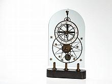 Skeleton clock with glass top, 20th Century