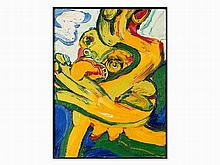 Bengt Lindström (1925-2008), Le Chasseur de Papillon, Oil, `72