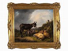 Eugène Verboeckhoven (1798/99-1881), Donkey with Sheep, 1835