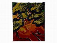 Bengt Lindström, Visage Rouge, Pastose Painting, pres. 1990s