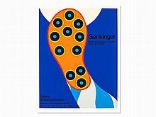 Fritz Genkinger, Großer Schuh, Poster,Serigraph in Colors, 1970