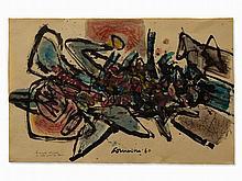 Corneille (1922-2010), La Mante Religieuse, Mixed Media, 1960