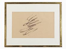 Jean Fautrier, Informel Composition, India Ink Drawing,ca. 1962