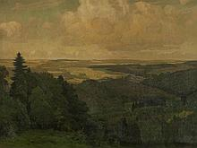 Willy Ter Hell, Large Scale Landscape 'Brandenburg', 1910