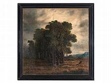After Alexandre Calame, Oil Painting 'Thunderstorm', c. 1850