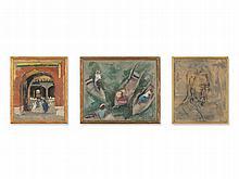 Anna von Schubert, Three Exotic Sketches, Two-Sided, 1932-39