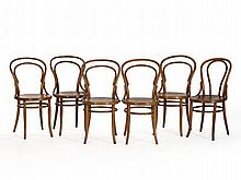 Six Bentwood Chairs with 'Hotel Bogota' Stamp, c. 1900