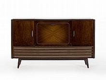 Loewe Music Cabinet with Radio and Dual Record Player, 1950s