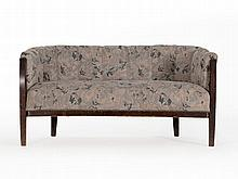 Three-Seater Sofa with Floral Upholstery, Germany, around 1930
