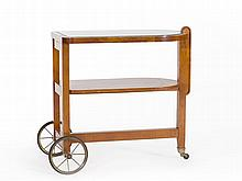 Serving Cart with Glass Top, Deutsche WK-Möbel, circa 1920