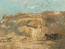 Wouterus II Verschuur (1841-1936), Stone Pit, Oil, 20th C.
