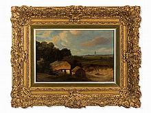 Monogrammist I.H., Painting, Landscape with Farmhouse, c. 1800