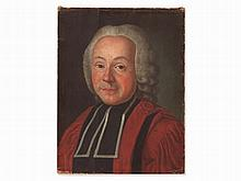 Oil Painting, Portrait of a Cleric, presumably Germany, 18th C.