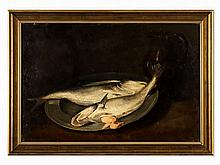 Painting, Traditional Fish Still Life, pres. Holland, 19th C.