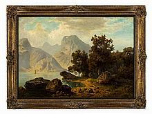 Wilhelm Nocken (1830-1905), Alpine Lake, Germany, around 1880