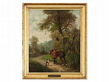 Francesco Lord Mancini (1830-1905), 'To the Hunt', 19th C.