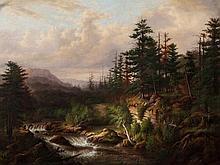 Heinrich Vianden (1814-1899), Romantic Forest, 19th C.