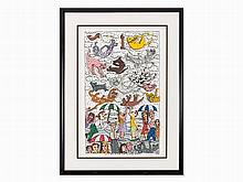 James Rizzi, 3D-Work, 'It's Raining Cats and Dogs', USA, 1996