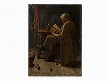 Eduard Pfyffer (1836-1899), Reading Man, Oil Painting, 1880s