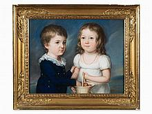 Joseph Friedrich A. Darbes, A Siblings Portrait, Pastel, c.1800