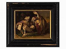 German School, Der Scheich vom Sinai, Oil Painting, 2 H 19th C.