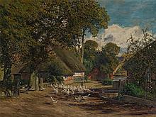 Fritz Stoltenberg (1855-1921), Village Road in Autumn, c. 1900