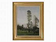 Hans Frank (1884-1948), Landscape with High Poplar, Oil, 1931