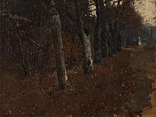 Albin Egger-Lienz (1868-1926), Alley in the Park, c. 1900
