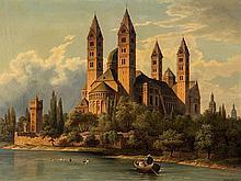 Hubert Sattler (1817-1904), Kosmorama - Speyer Cathedral, 1874