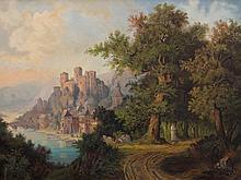 F. Böhnke, Oil Painting, Romantic Landscape, around 1870