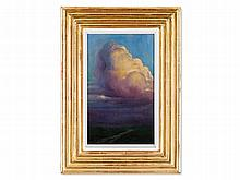 Wilhelm Bernatzik (1853-1906), Oil Painting, Thundercloud, 1901