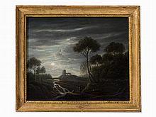 Johann N. Schödlberger (1779-1853), Lunarscape, Oil, 19th C