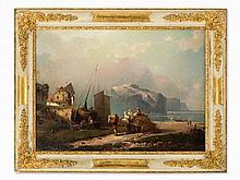Franz Richard Unterberger (1838-1902), attr., Village, Oil, 19t
