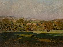 Heinrich Tomec (1863-1928), Large Format Landscape, Oil, 1911
