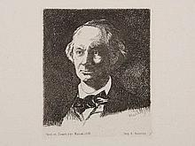 Édouard Manet, Etching 'Portrait Charles Baudelaire', 1865