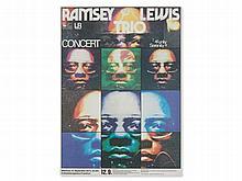 'Ramsey Lewis Trio', Original Concert Poster, G. Kieser, 1973