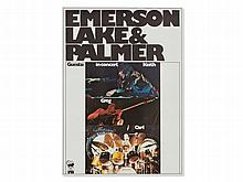 'Emerson, Lake & Palmers' Concert Poster, 1971