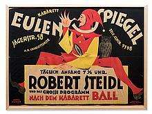 Reinhard Hoffmüller, Poster Eulenspiegel Cabaret, Berlin, 1920