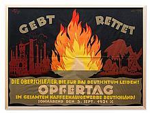 Reinhard Hoffmüller, Poster 'GEBT RETTET', Berlin, 1921