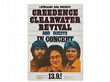'Creedence Clearwater Revival' Concert Poster, G. Kieser, 1971
