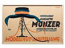 Reinhard Hoffmüller, Poster, Model Hat Exhibition, Berlin, 1920