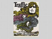 Tour Poster for Steve Winwood's Traffic, Guenther Kieser, 1971